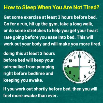 چگونه وقتی خسته نیستید بخوابید؟